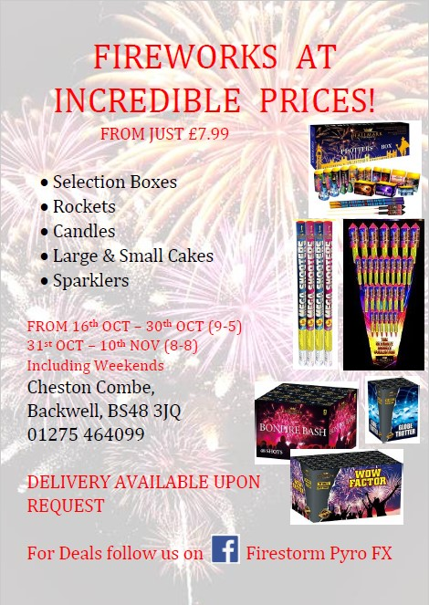 Firestorm Pyro FX Fireworks Offer