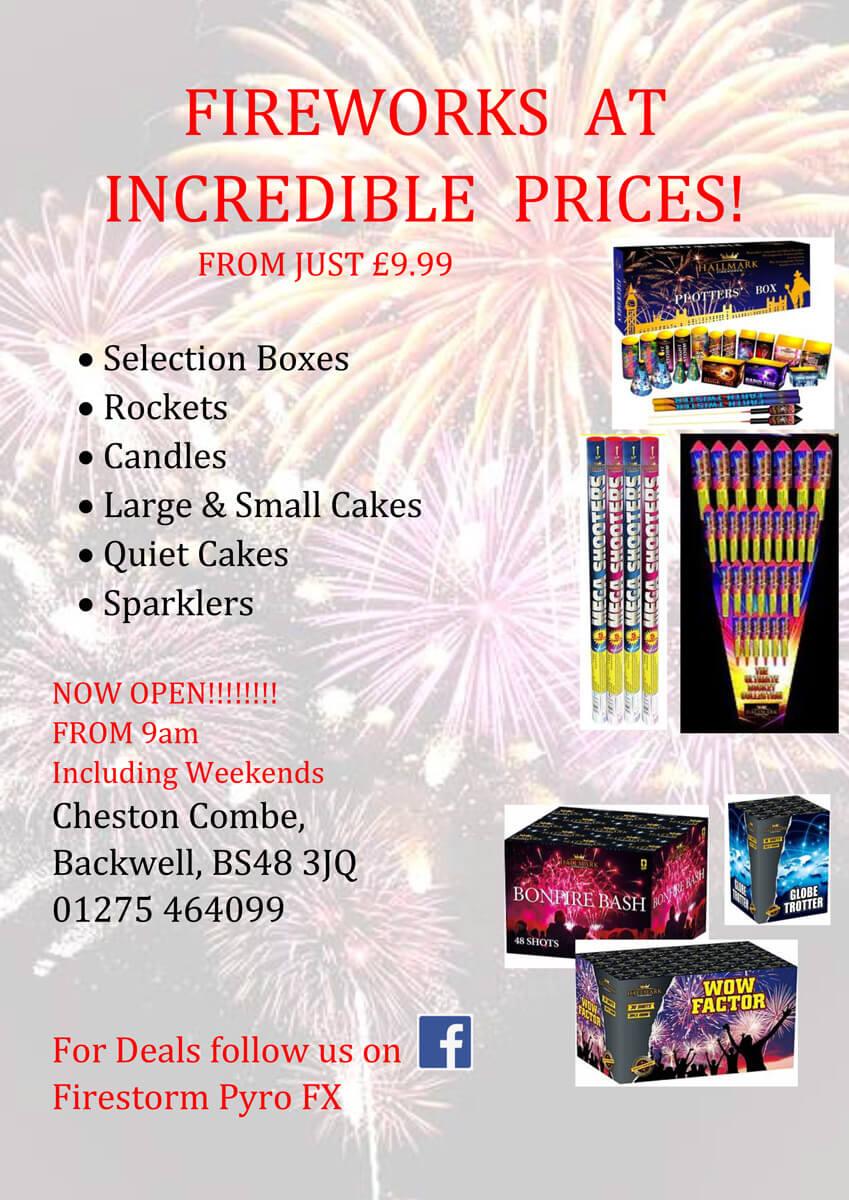 Firestorm Pyro FX Fireworks Offer